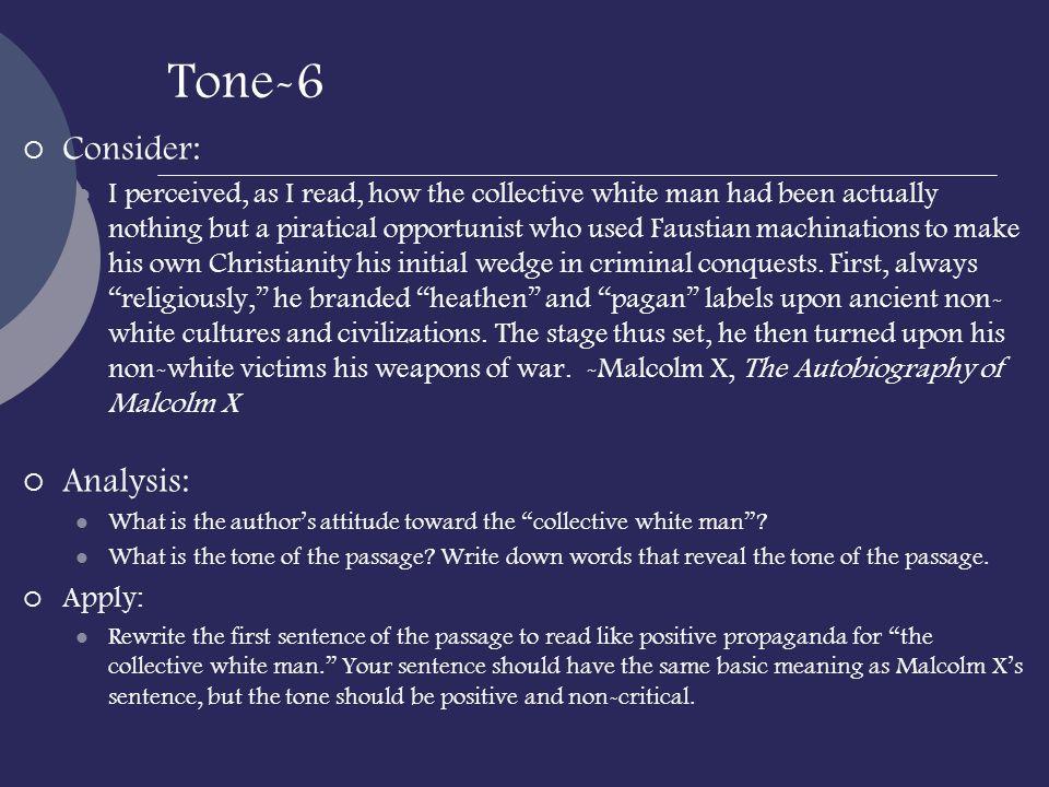 Tone-6 Consider: Analysis: Apply:
