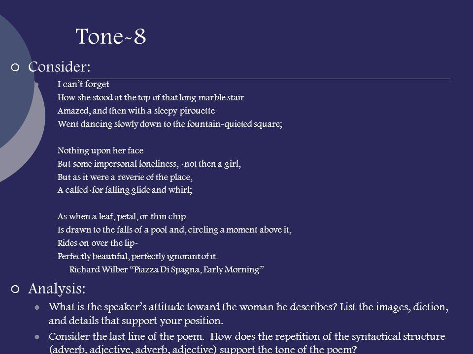 Tone-8 Consider: Analysis: Apply: