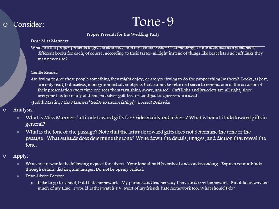 Voices: Tone.