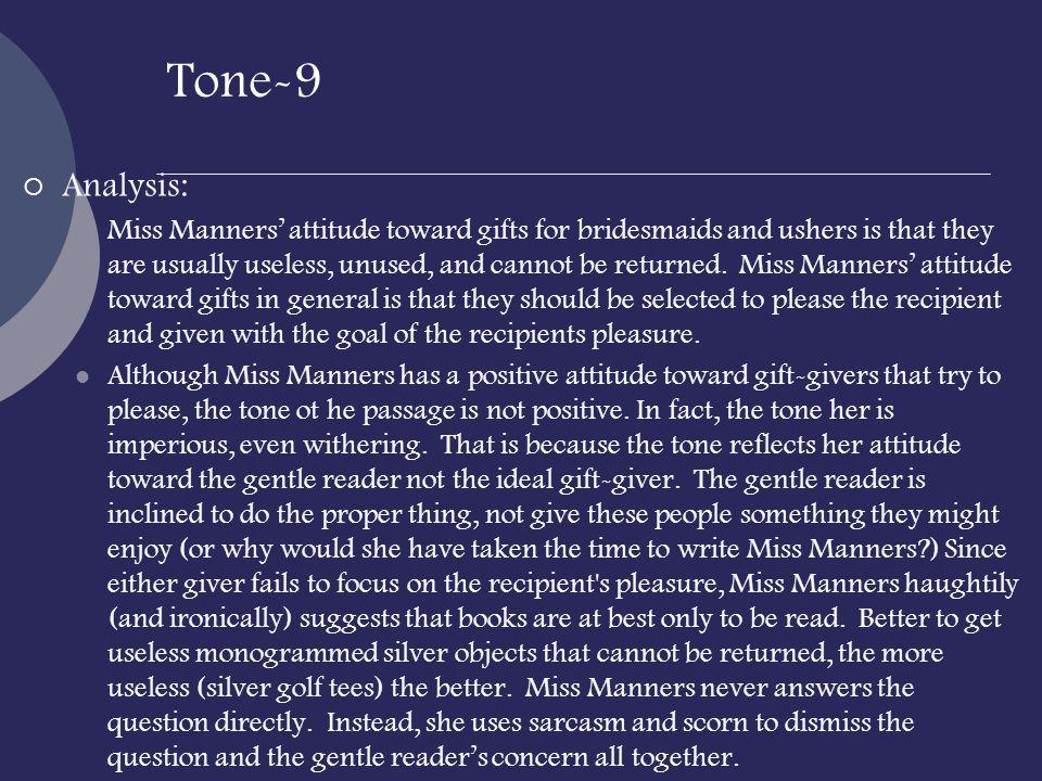 Tone-9 Analysis:
