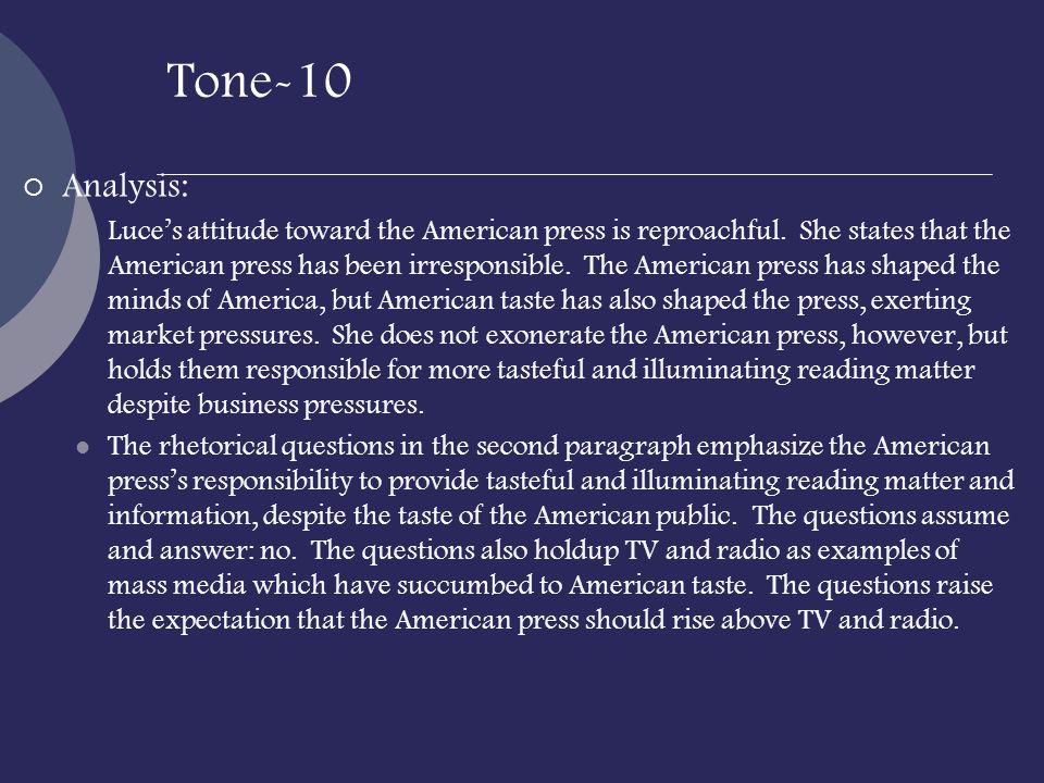 Tone-10 Analysis: