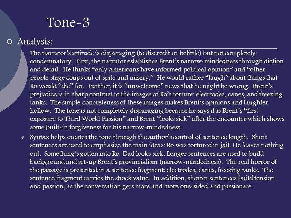 Tone-3 Analysis: