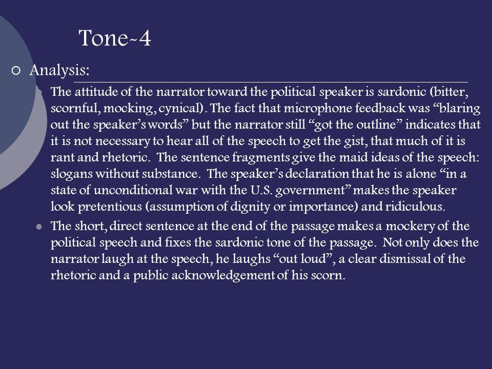 Tone-4 Analysis: