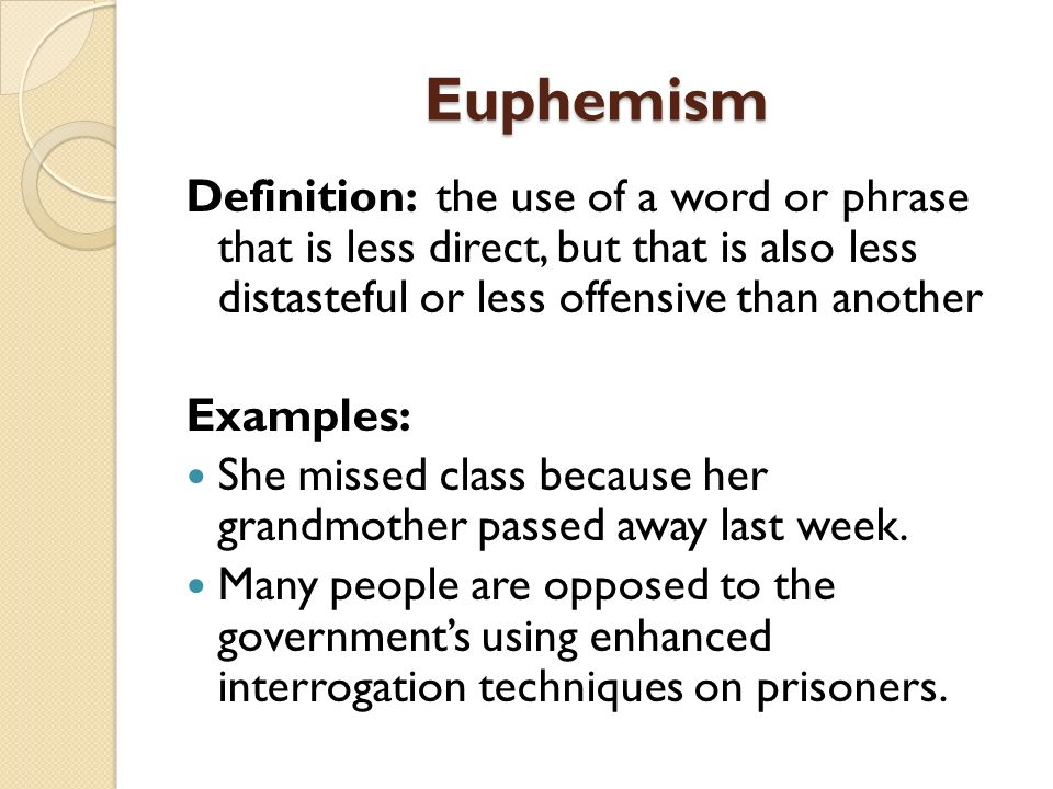 euphemisms in modern english Number of units and euphemistic phrases, not recorded in the dictionary, are  [ 16] am katsev, euphemisms in modern english language, phd thesis,.
