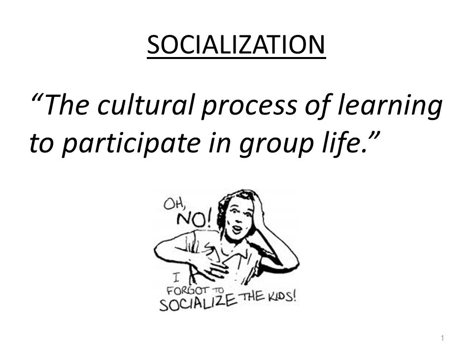 The cultural process of learning to participate in group life.