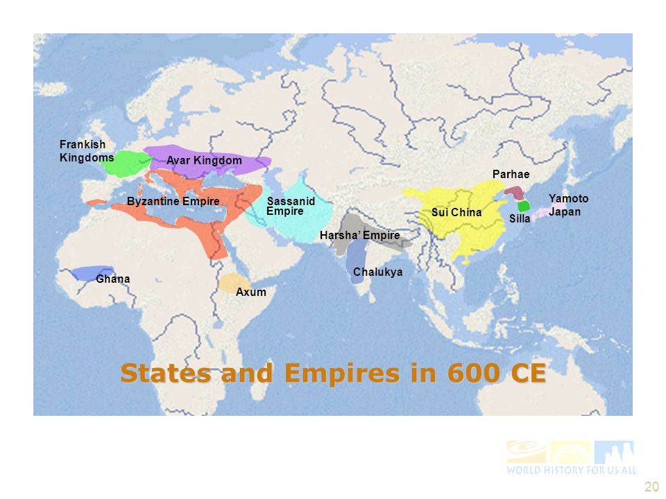 States and Empires in 600 CE
