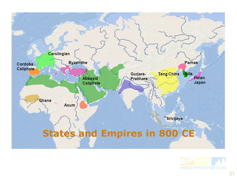 States and Empires in 800 CE