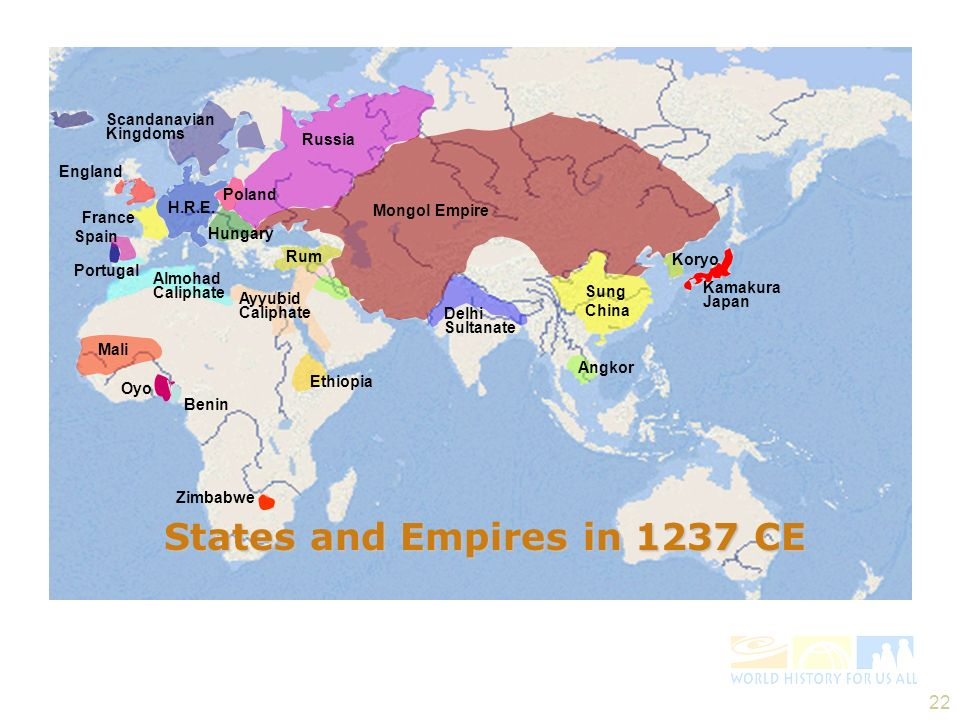 States and Empires in 1237 CE