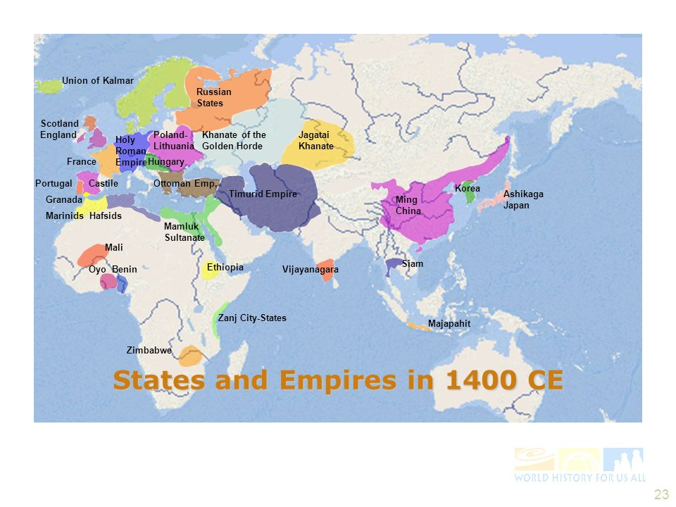 States and Empires in 1400 CE