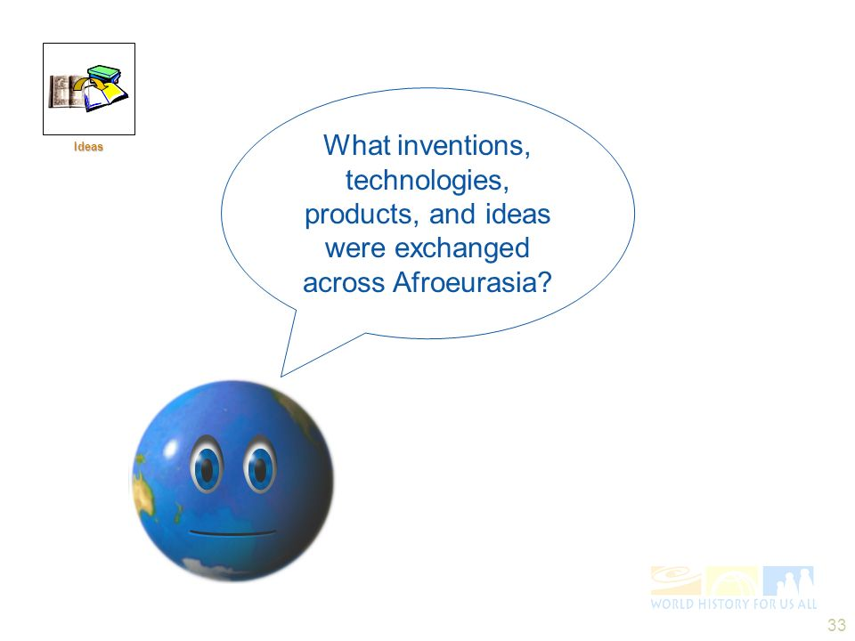 Ideas What inventions, technologies, products, and ideas were exchanged across Afroeurasia