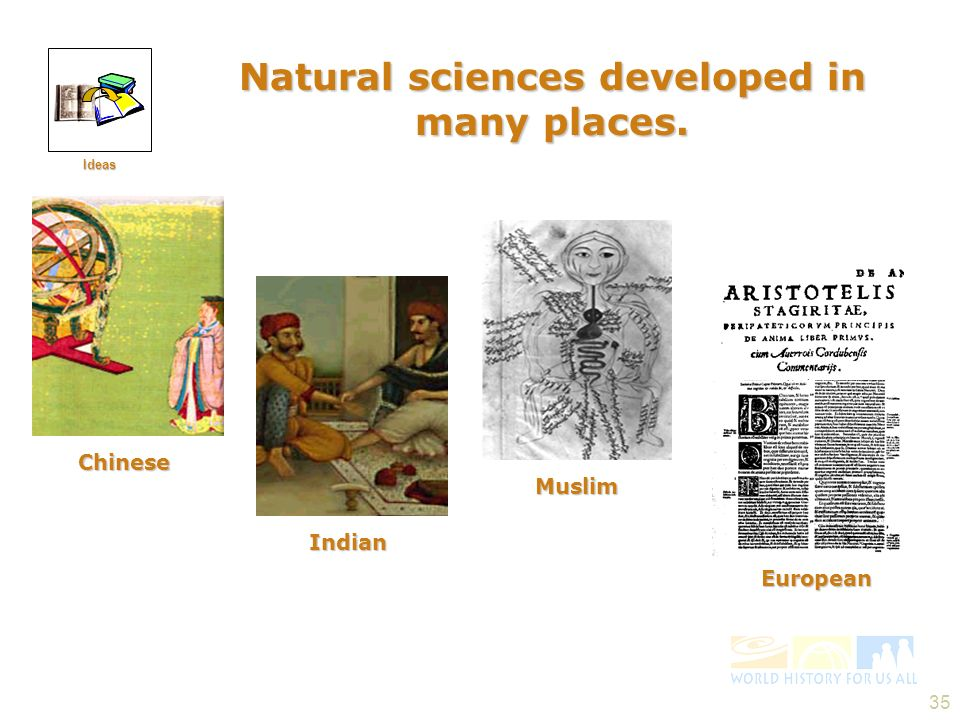 Natural sciences developed in