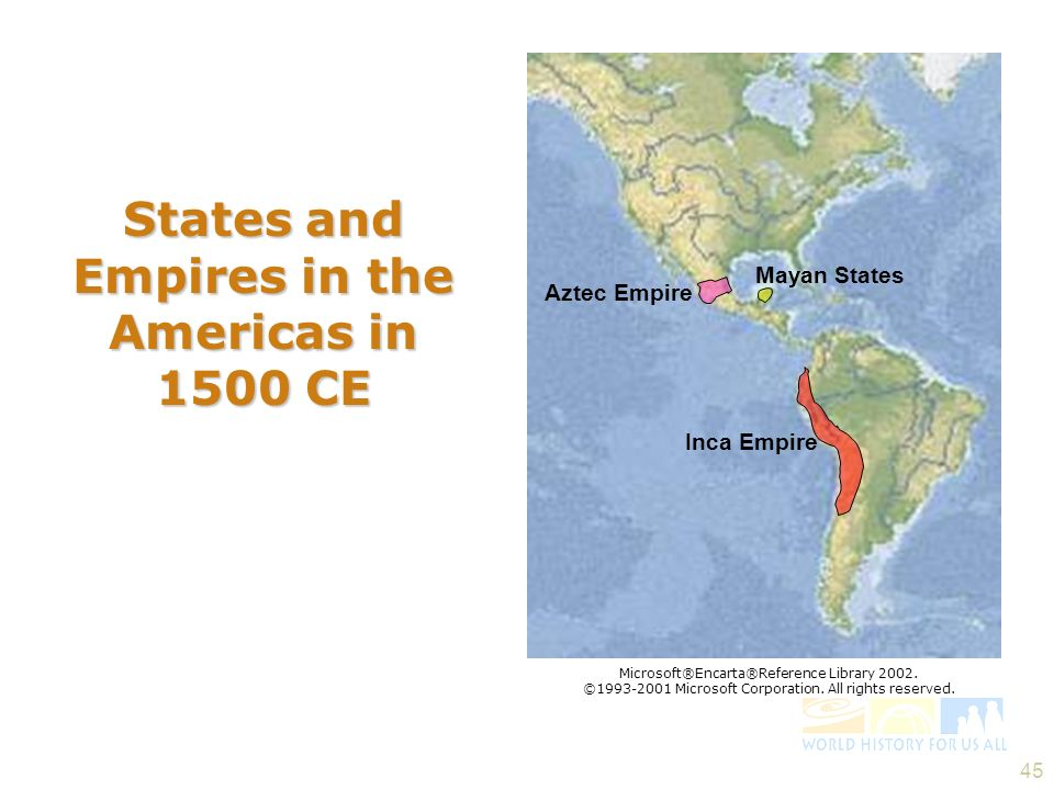 States and Empires in the Americas in 1500 CE