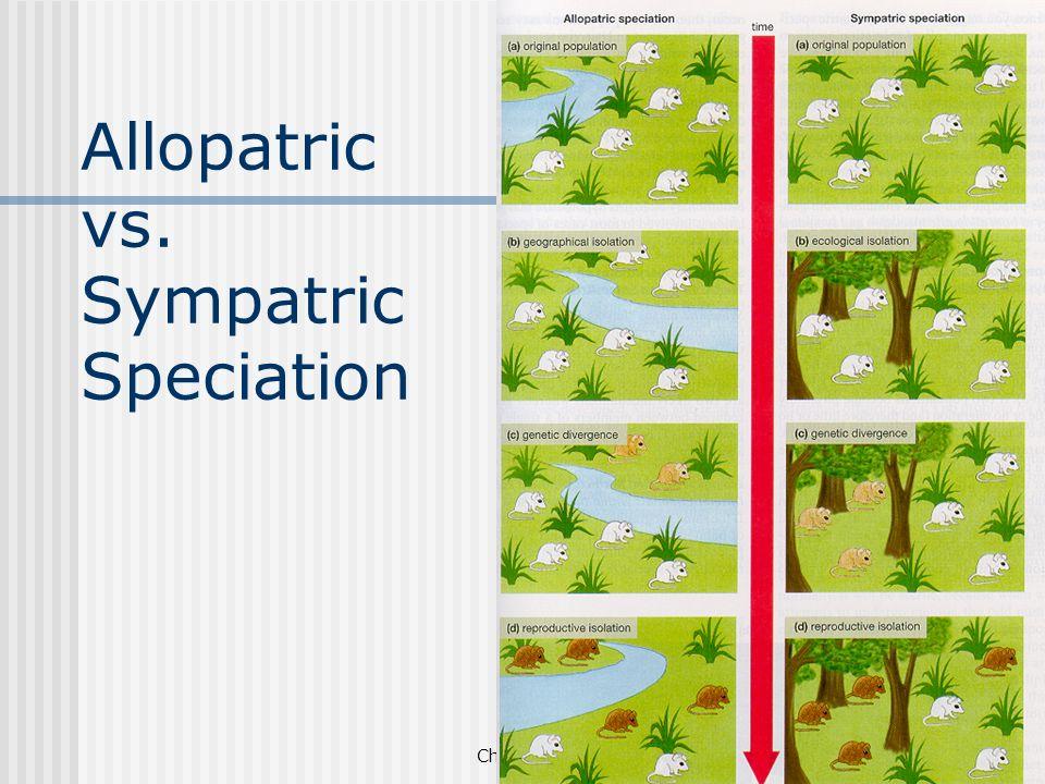Allopatric vs. Sympatric Speciation