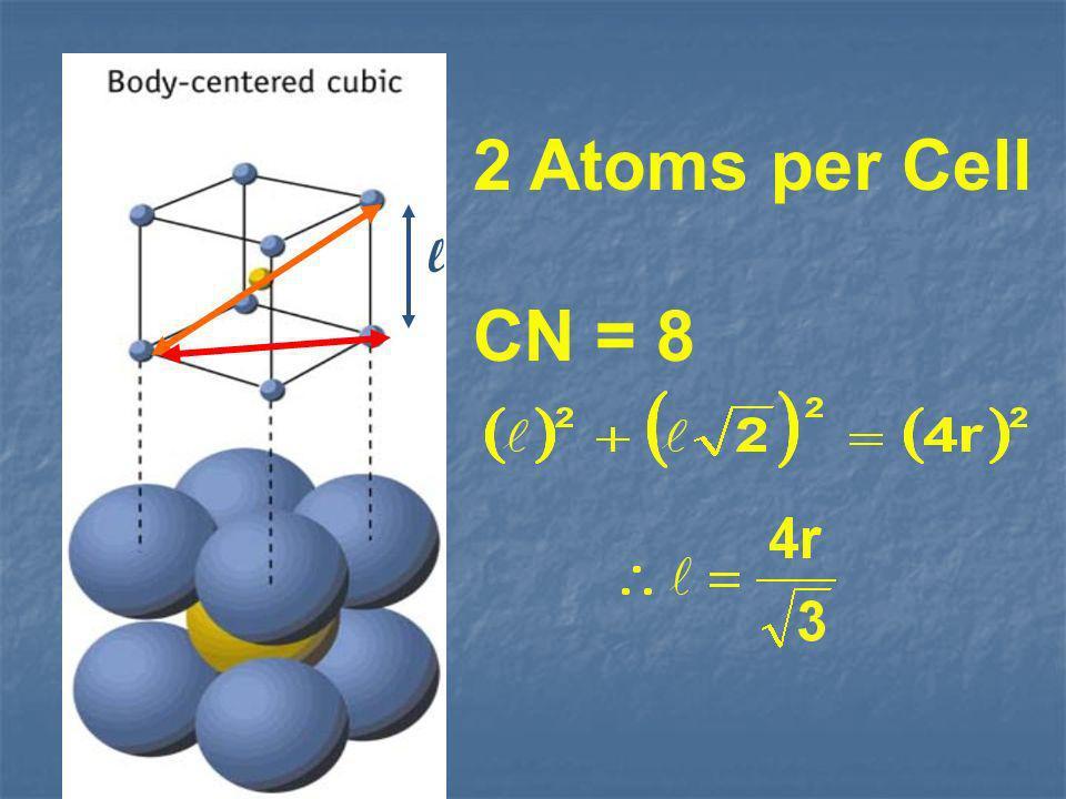 2 Atoms per Cell CN = 8 l