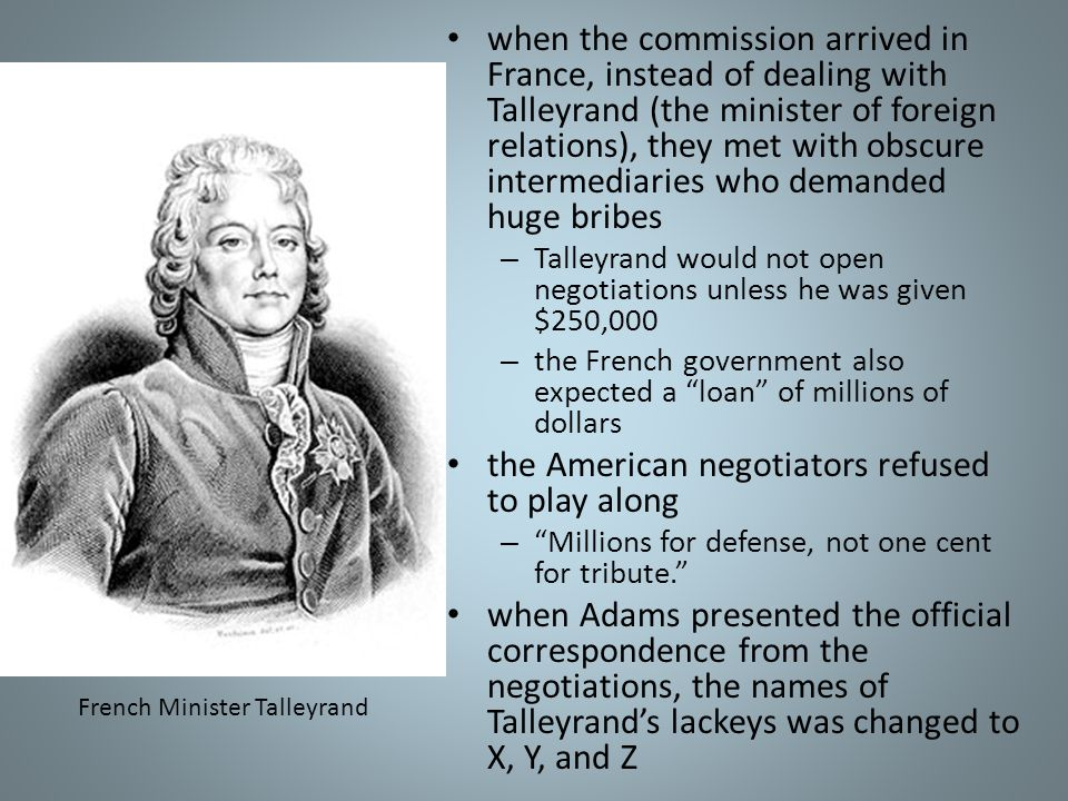 French Minister Talleyrand