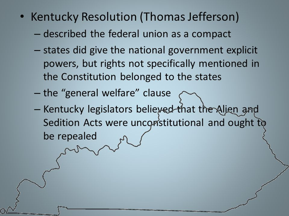 Kentucky Resolution (Thomas Jefferson)