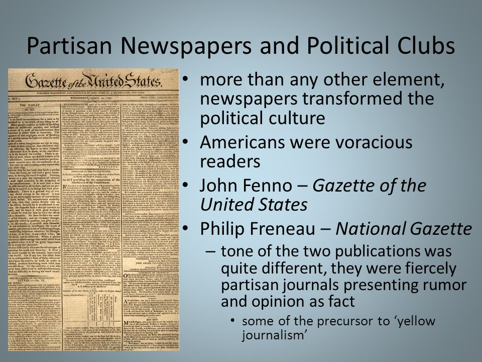 Partisan Newspapers and Political Clubs
