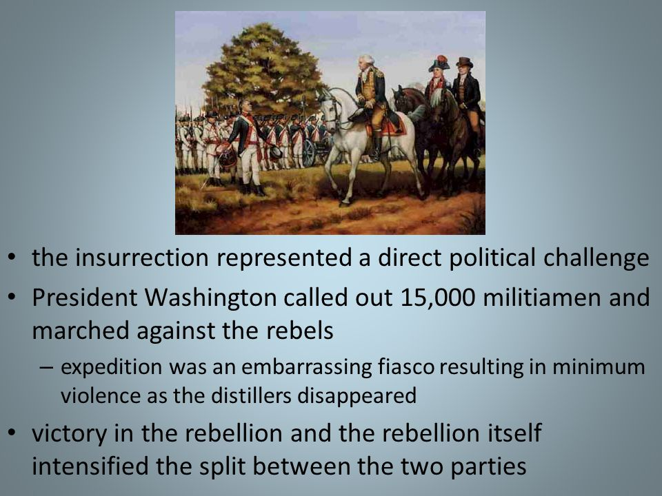 the insurrection represented a direct political challenge