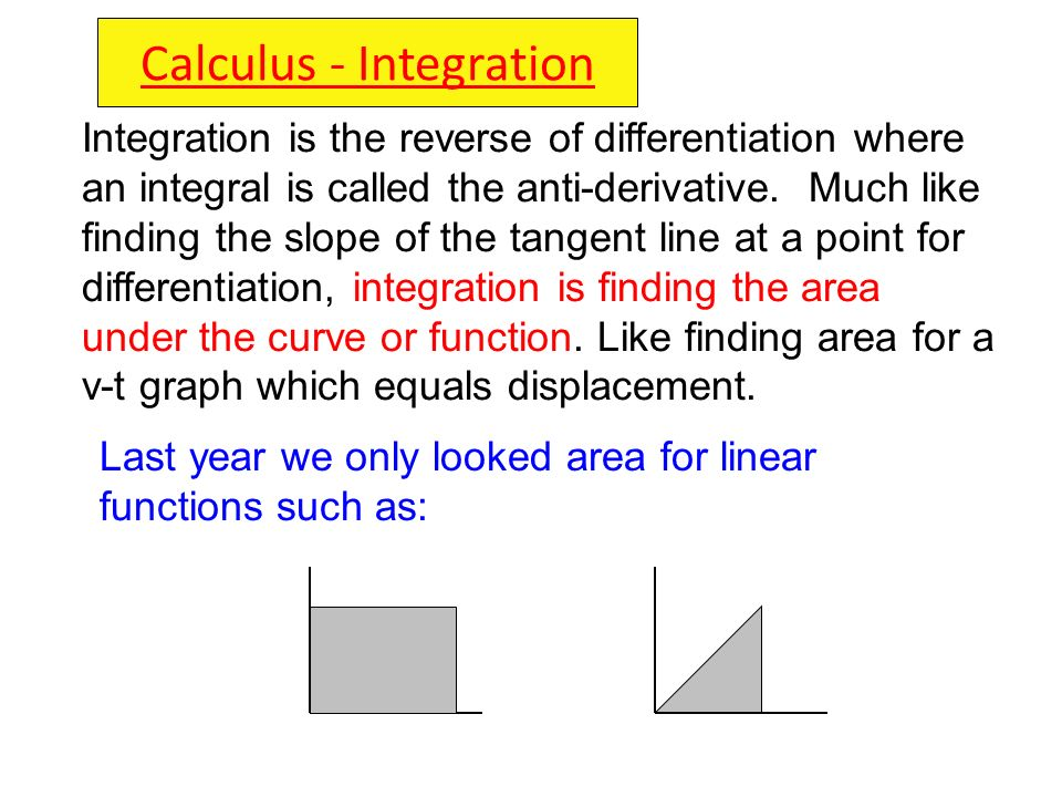 Calculus - Integration