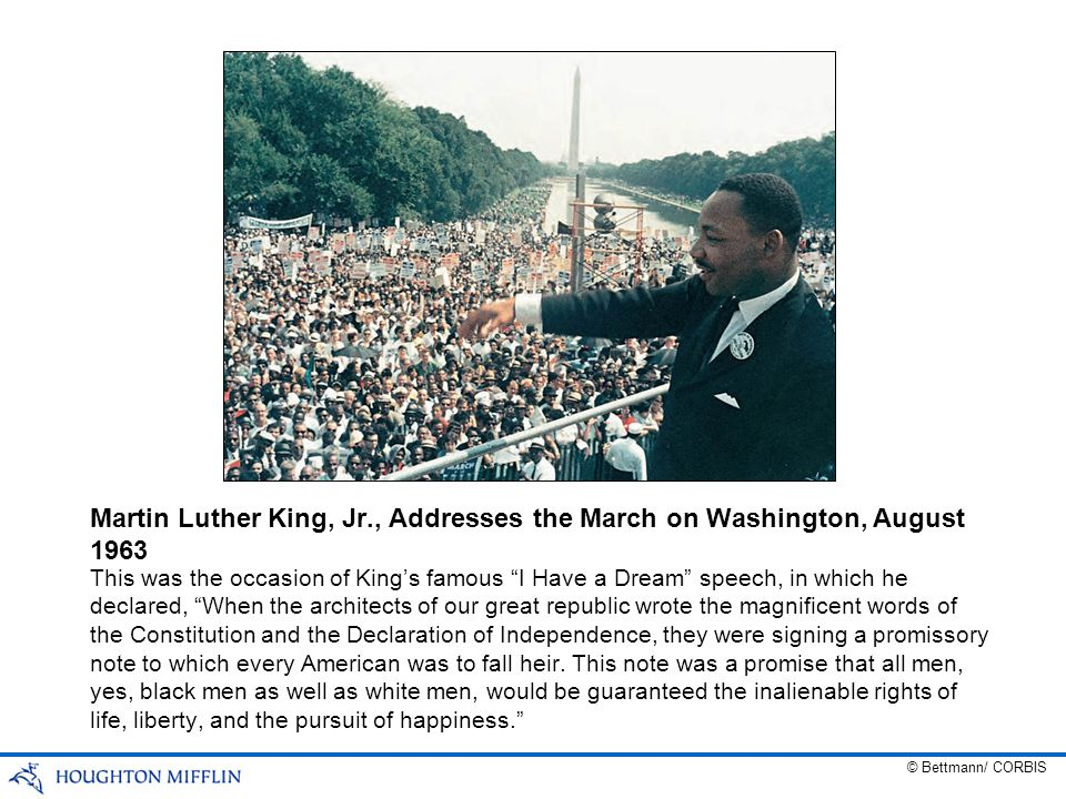 Martin Luther King, Jr., Addresses the March on Washington, August 1963
