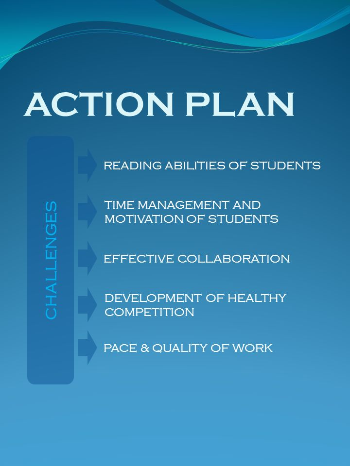 ACTION PLAN CHALLENGES READING ABILITIES OF STUDENTS