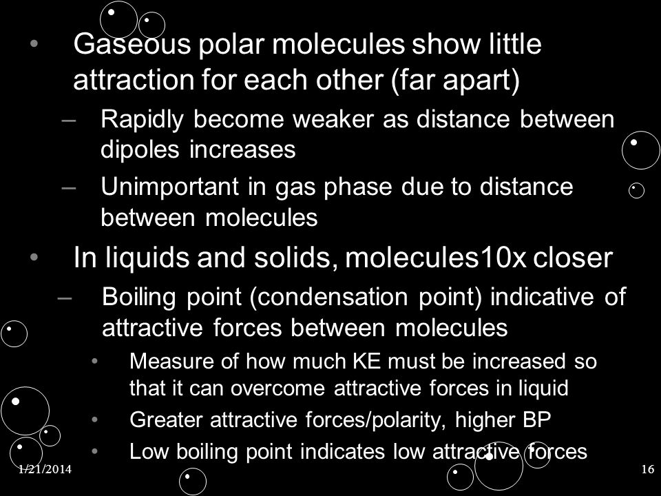 In liquids and solids, molecules10x closer