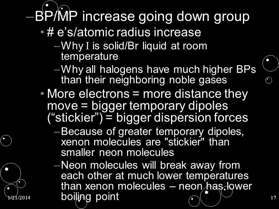 BP/MP increase going down group