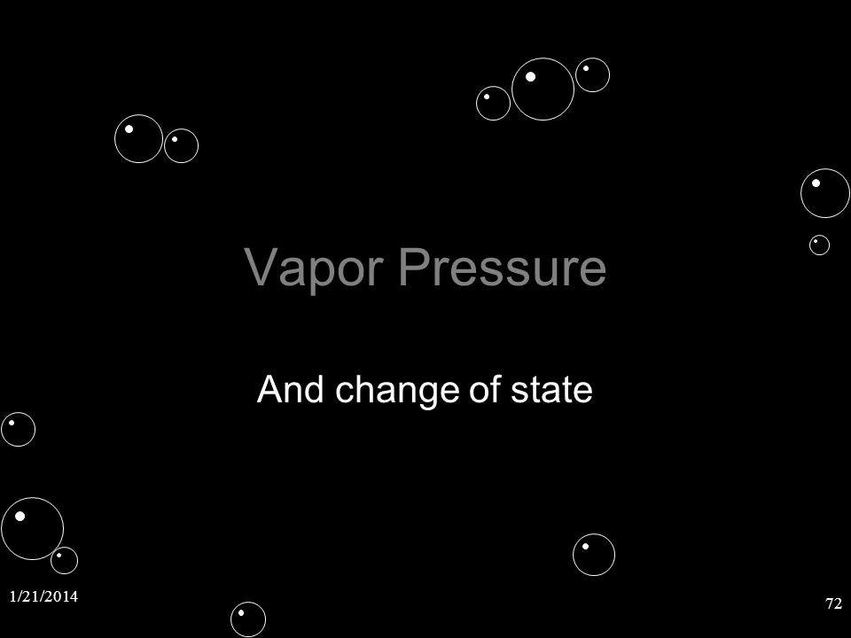 Vapor Pressure And change of state 3/25/2017