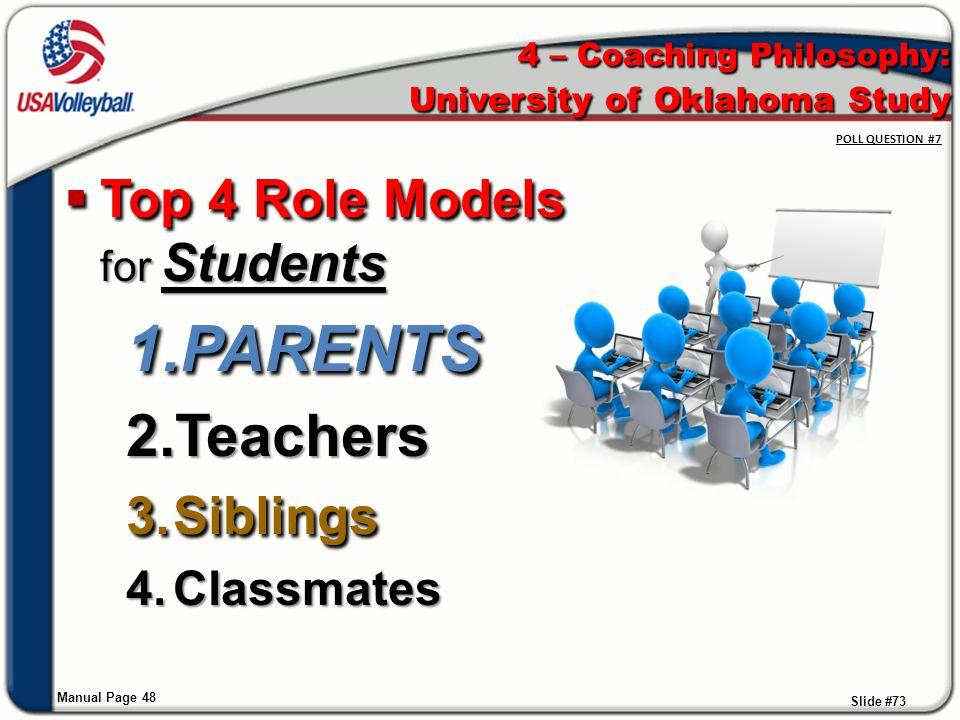 4 – Coaching Philosophy: University of Oklahoma Study