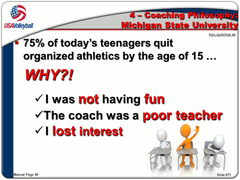 4 – Coaching Philosophy: Michigan State University