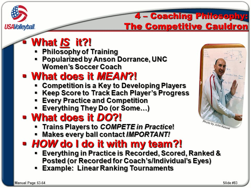 4 – Coaching Philosophy: The Competitive Cauldron