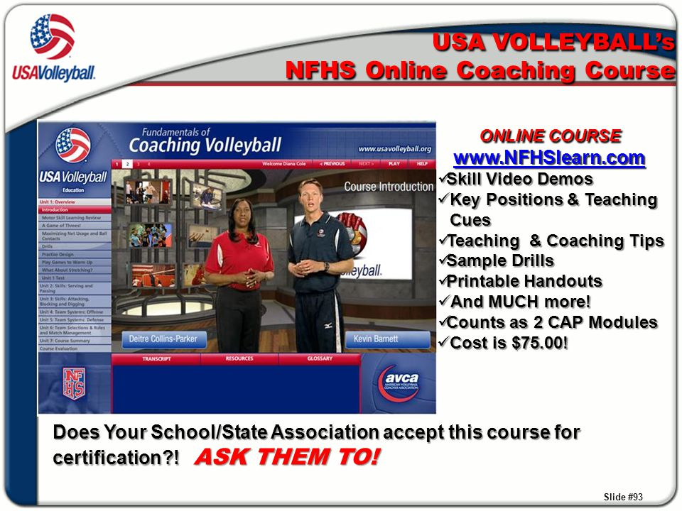 USA VOLLEYBALL's NFHS Online Coaching Course