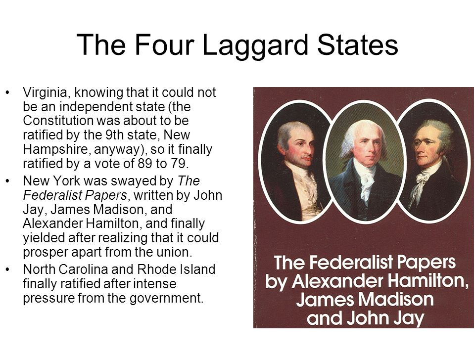 The Four Laggard States