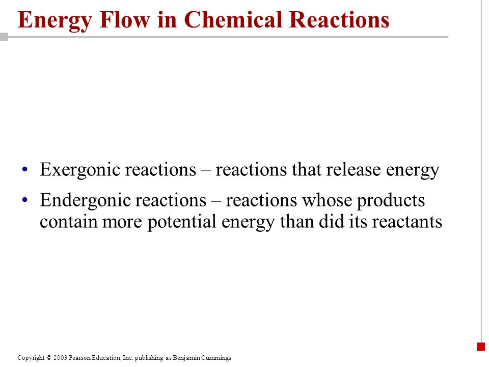 Energy Flow in Chemical Reactions