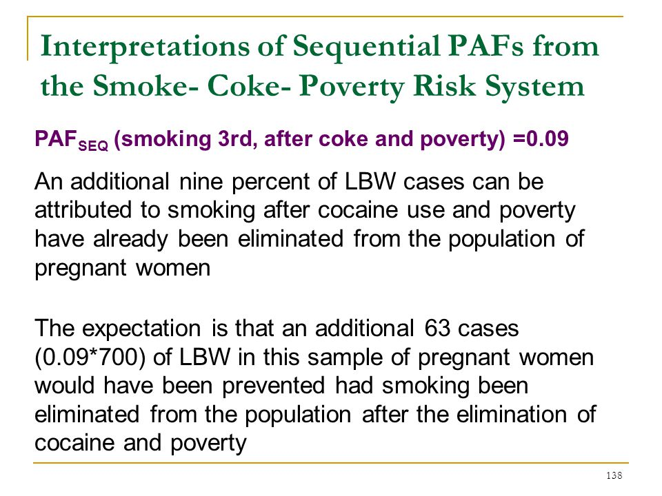 Interpretation of Average PAFs from the Smoke, Coke, and Poverty Risk System