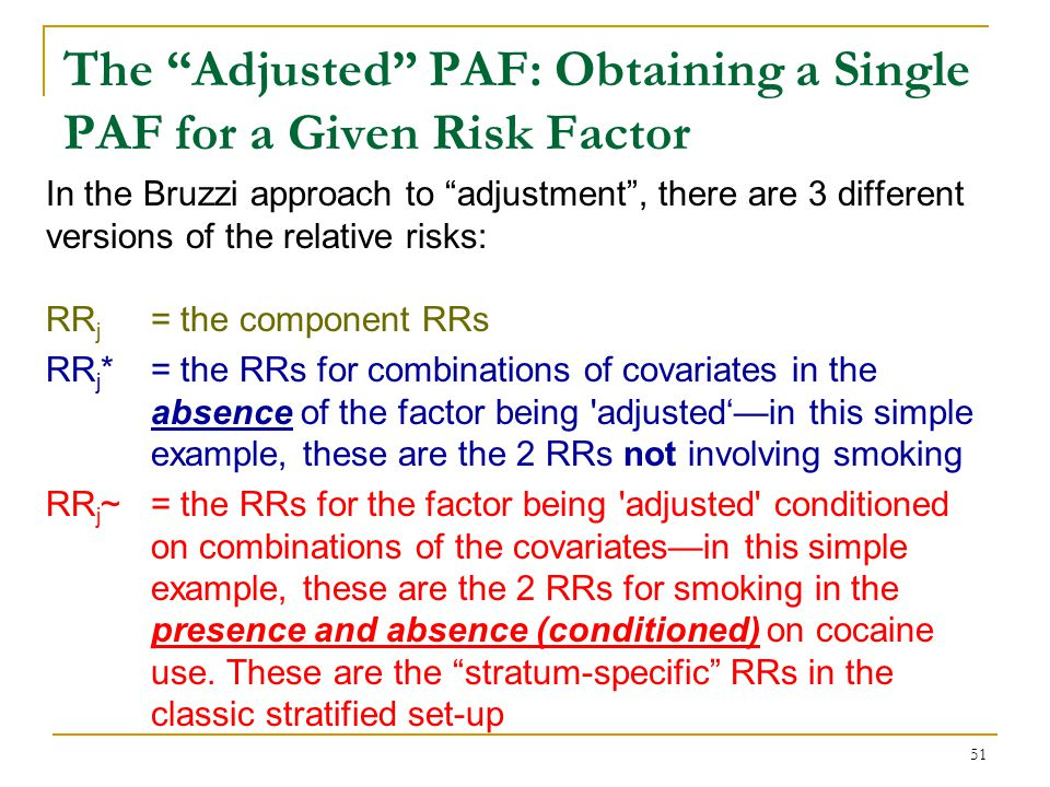 The Adjusted PAF: Obtaining a Single PAF for a Given Risk Factor
