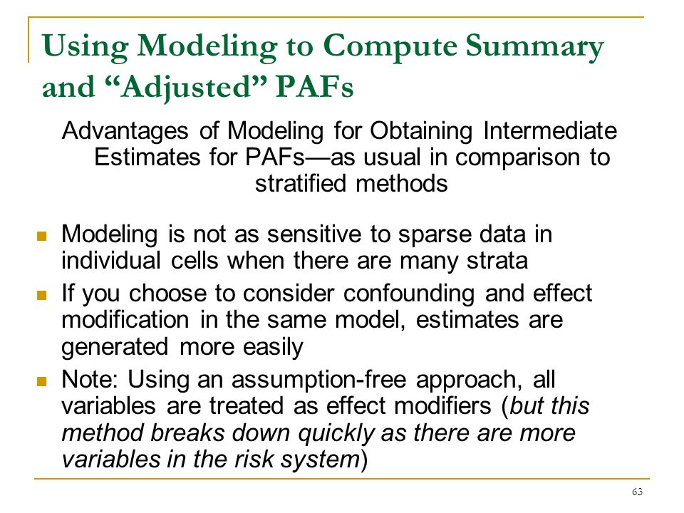 Assumption-Free Approach Using Fully Specified Model