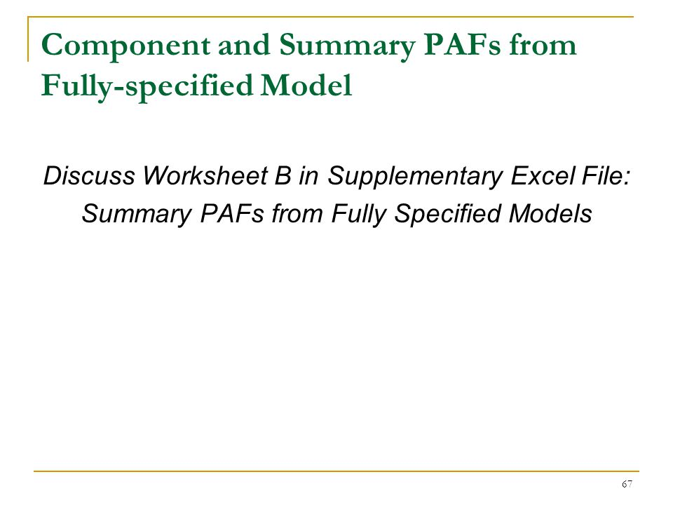 Re-examining Fully-Specified Model