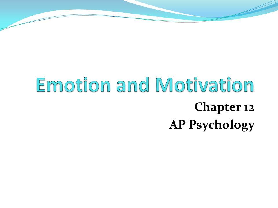 Emotion and Motivation - ppt download