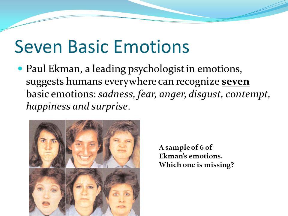 Seven Basic Emotions