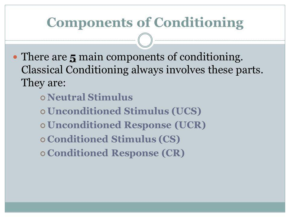 Components of Conditioning