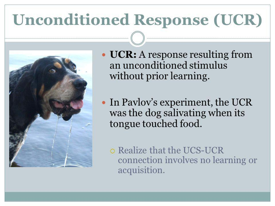Unconditioned Response (UCR)