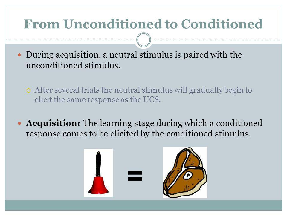 From Unconditioned to Conditioned