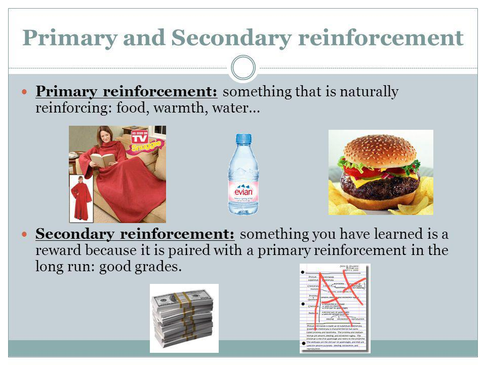 Primary and Secondary reinforcement