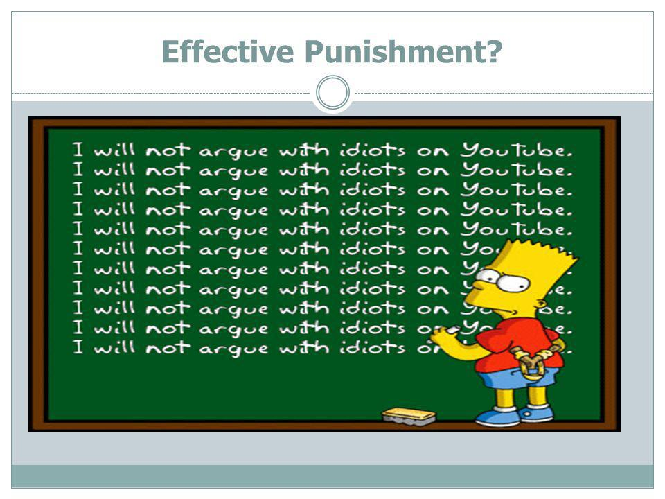 Effective Punishment