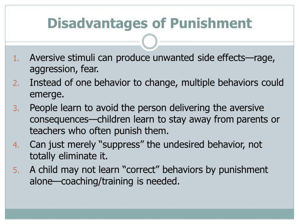 Disadvantages of Punishment