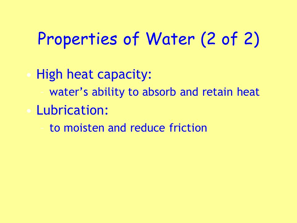 Properties of Water (2 of 2)