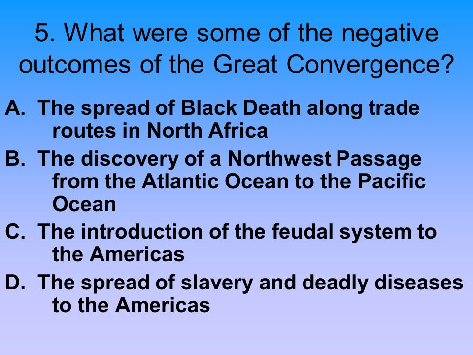 5. What were some of the negative outcomes of the Great Convergence