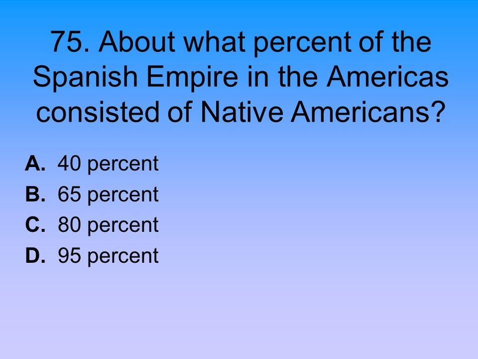 A. 40 percent B. 65 percent C. 80 percent D. 95 percent