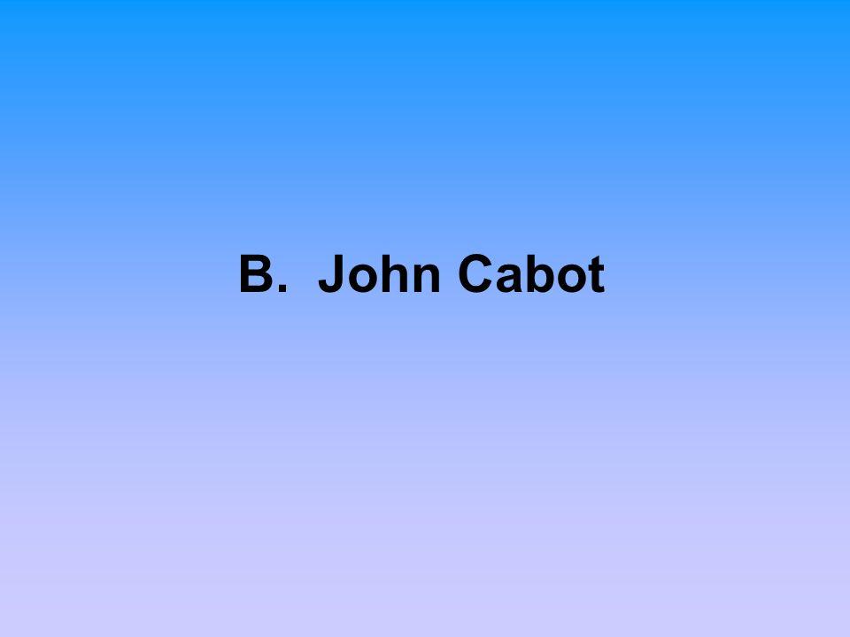 B. John Cabot